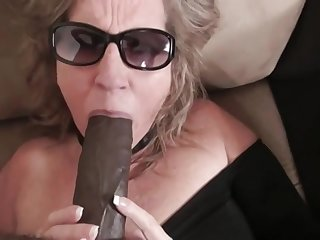 Big botheration fat MILF deepthroated by BBC together with fucked in interracial with cumshot