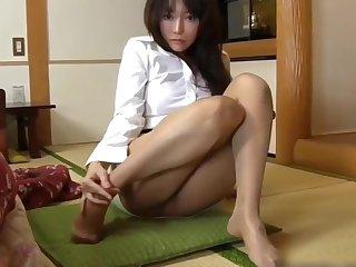 PERFECT Hooves IN NYLON JAPANESE BABE IN MINI SKIRT