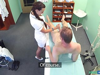 Amateur dude makes his zeal come true as soon as her bangs a hot nurse