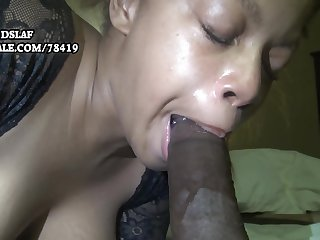 Busty raven mom sucking and deepthroating BBC for cum tax