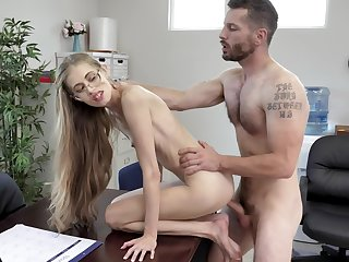 Most amazing hard fucking at the situation for the anorectic secretary