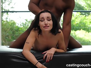 Tattooed slut was sucking a black guy's big, fat dick, because he asked be fitting of it