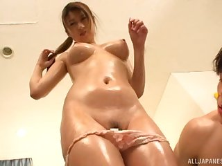 Hot ass Japanese chick enjoys having sex with trillions be fitting of dudes