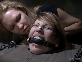 Small tits fair-haired babe gets rough tortured next to Endza Adair