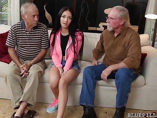 Sexy PILL MEN - Old Men Fucking Teen Girls Compilation Video!