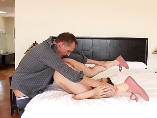 Beloved ass babe feels stepdaddy fucking her as a result good