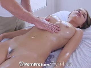 PornPros cascading gummy muff rubdown and tear up for chesty Dillion Harper best porn