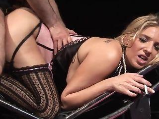 Jordan takes pulsating manmeat deep inwards her raw coochie free sex