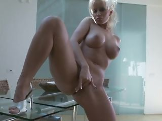 Huge-boobed aurous mummy plays with her dearest fuck-a-thon bagatelle porn video
