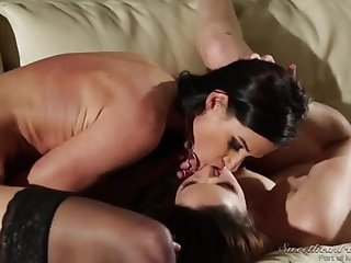 Awesome filly in lesbian scene
