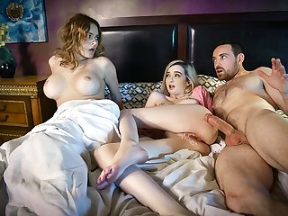 FamilyStrokes - Busty Mom Turned Costs Shacking up Daughter